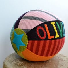 Cute gift!  Personalized Sweater Ball -$28.00, via Handmadepretties on Etsy.