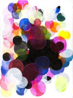 "Saatchi Online Artist: Paula Baader; Acrylic, 2011, Painting ""circles#7"""