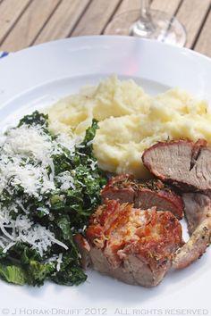 Prosciutto & Parmesan-stuffed pork loin