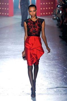 Jason Wu Fall 2012. Red/Black Lace.