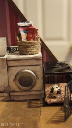 Dollhouse Miniature Dog Crate.