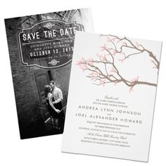 Wedding save the dates online in Hamilton
