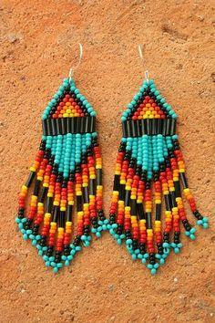 seed bead native american earrings