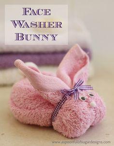 DIY-Face Washer Bunny