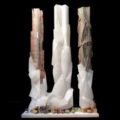 フランク・ゲーリーによるカナダ・トロントの高層ビルの模型写真