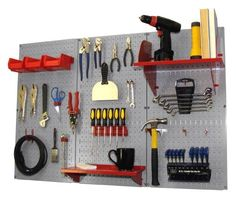 Pegboard Organizer Wall Control 4 ft. Metal Pegboard Standard Tool Storage Kit with Gray Toolboard and Red Accessories by Wall Control, http://www.amazon.com/dp/B00BI4DS3S/ref=cm_sw_r_pi_dp_G3ojrb1BYFVC3
