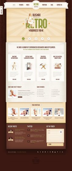 Retro - Premium Vintage WordPress Theme http://themeforest.net/item/retro-premium-vintage-wordpress-theme/5075763?ref=wpaw #web #design #wp Get this template from: http://themeforest.net/?ref=Vision7Studio
