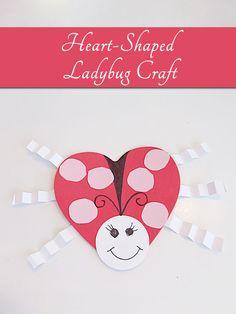 Heart Shaped Ladybug Craft