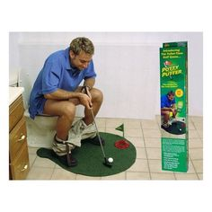 Haha, i want one of these...Potty Putter Putting Mat Golf Game