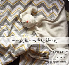 fluffy bunny blanket {free pattern   tutorial}