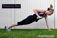 10 Planks that Tone and Tighten. Get flatter abs quicker with these 10 planks. #themorningrunner, #planks, #abs, #workouts