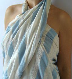 Turkish Bath and Beach Towel Peshtemal 100 Cotton by TheAnatolian, $29.00