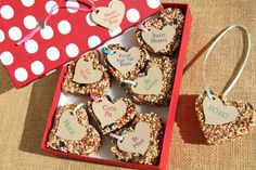 valentine day ideas, birdseed ornaments, birdse ornament, ecofriend gift, candies, boxes, bird seed, gifts, seed candi
