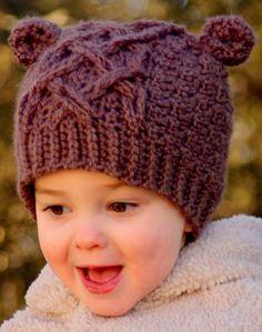 Crochet hat pattern little bear