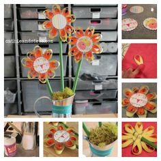 DIY Zipper Flower Bouquet with Mod Podge