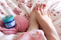 Rub your feet with Vicks Vapor Rub to stop coughing at night.  Place socks on to seal in the Vicks.