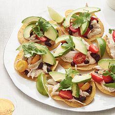 Chicken-and-Black Bean Tostadas | MyRecipes.com