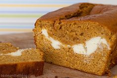 Layered Pumpkin Loaf | www.tasteandtellblog.com