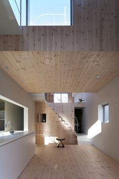 stair architectur, interior, houses, architects, wooden architectur, architectur space, offices, komada architect, architect offic