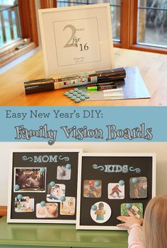 New Years #DIY - Make vision boards with the kids!