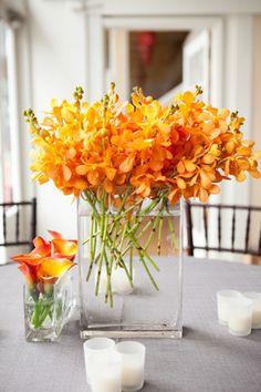 orange wedding flowers by saltharbor.com, photo by myastrid.com