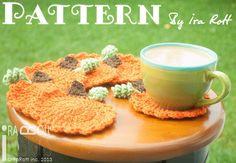 Free Halloween Thanksgiving Pumpkin Coasters Crochet Pattern