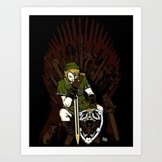 Throne of Games Art Print by zerobriant - $22.88