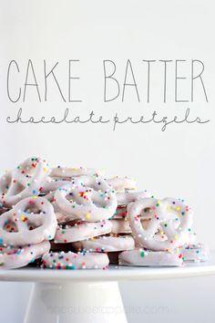 cake batter pretzels