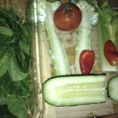 Late night snack... All veggies juiced!