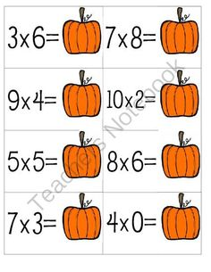 Math Multiplication Bundle - Fall Theme from teaching crafty on TeachersNotebook.com -  (9 pages)  - Math Multiplication Bundle