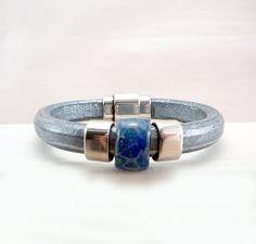 Licorice Leather Bracelet  Regaliz Bracelet  by TouchOfSilver