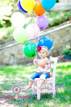 First Birthday Portrait Ideas | First Birthday Photo Ideas / Birthday girl
