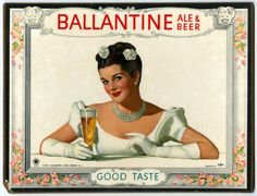 beer model, breweriana, cq market, brunette beauty, card, display, ales, friend, email market