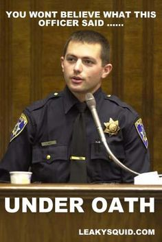 If you ever testify in court, you might wish you could be as sharp as this policeman.  He was being cross-examined by a defense attorney during a felony trial.