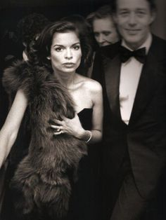 Bianca Jagger with Halston