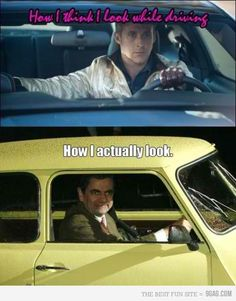 ryan gosling, funny pics, car humor, mr bean, funny pictures, funny photos, expectation vs reality, true stories, funny memes