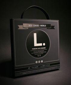 Cool condom packaging