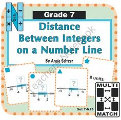 Multi-Match Game Cards 7N: Distance Between Integers on a Number Line from K-8 MathPaths on TeachersNotebook.com -  (10 pages)  - This FREE set of printable Multi-Match game cards helps students learn to find the distance between integers on a number line, an important foundation for CCSS 7.NS.1c.