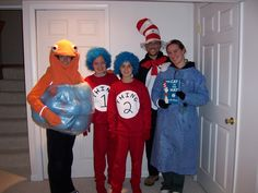 Dr Suess costumes!  (all homemade except the cat!)