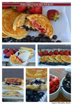 Portable Pancakes for a breakfast on the go from Super Healthy Kids #healthyfourth #pancakes #cookinglight