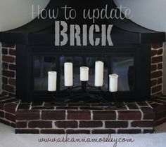 Repinned:  How to Stain Brick (Updating a Brick Fireplace)