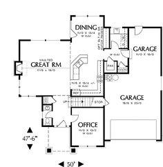 Morrison House Plan 5542 - First floor kitchen