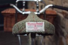 Harris Tweed Bicycle Seat.