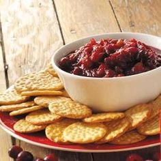 Jalapeno Cranberry Chutney Recipe from Taste of Home - This crimson-colored chutney from our Test Kitchen staff makes a tongue-tingling Christmas gift.