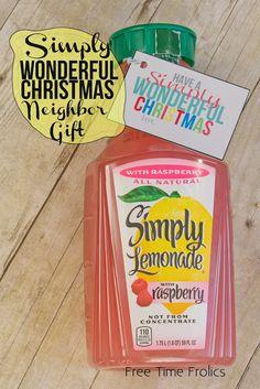 A Simoly Wonderful Christmas Neighbor Gift via www.freetimefrolics.com #simplylemonade, #neighborgift, #gift