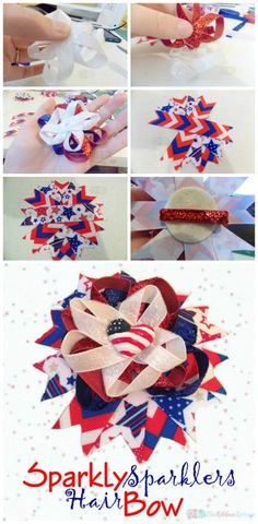 The Sparkly Sparkler Bow - The Ribbon Retreat Blog