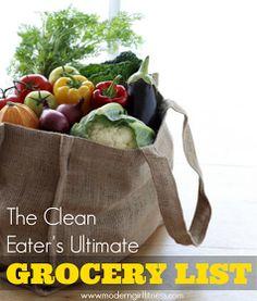 Ultimate Grocery List of Clean & Healthy Foods