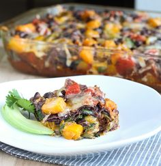Roasted Butternut Squash Enchilada Casserole  from Making Thyme for Health