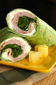 Ham and Pineapple Wraps from favfamilyrecipes.com #wraps #lunch #recipes