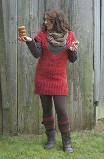 """Aria Tunic by Suzy Allen. This tunic length vest was designed with Green Mountain Spinnery's Simply Fine yarn in mind. Pattern is sold as part of the """"Green Mountain Weekend"""" ebook."""